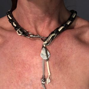 Leather and metal choker
